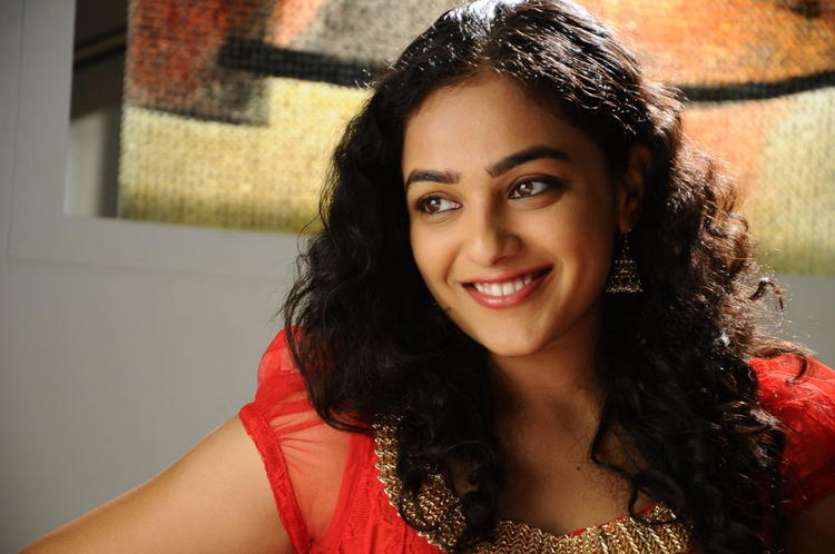 Nithya Menon Completed Her Look With Flowing Hair Still From Movie Gunde Jaari Gallanthayyinde