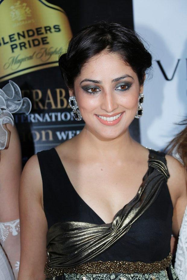 Yami Gautam Cute Smiling Still At BPH International Fashion Week 2012