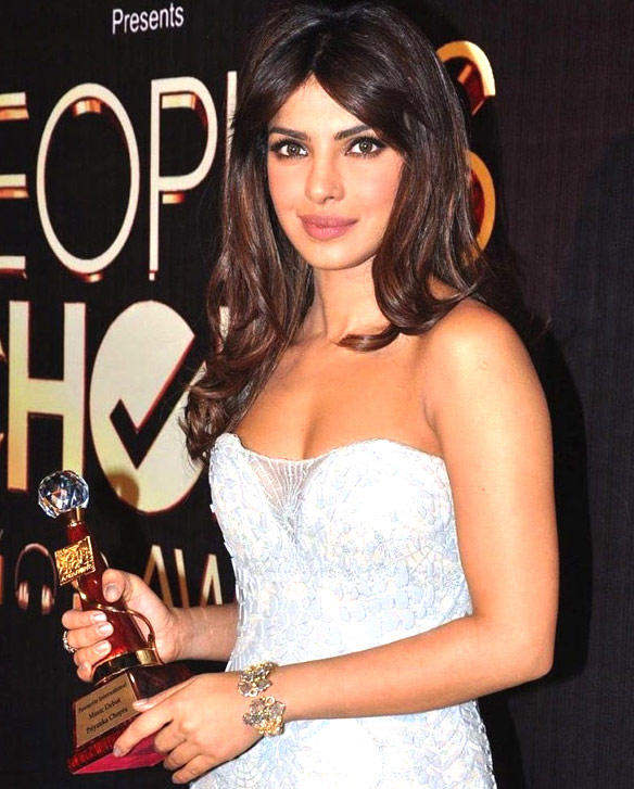 Priyanka With People Choice Award Trophy Hot Photo Still