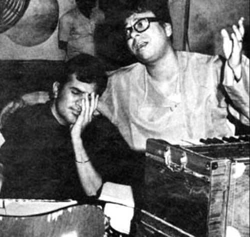 Rajesh Khanna And R. D. Burman Rare Photo Still