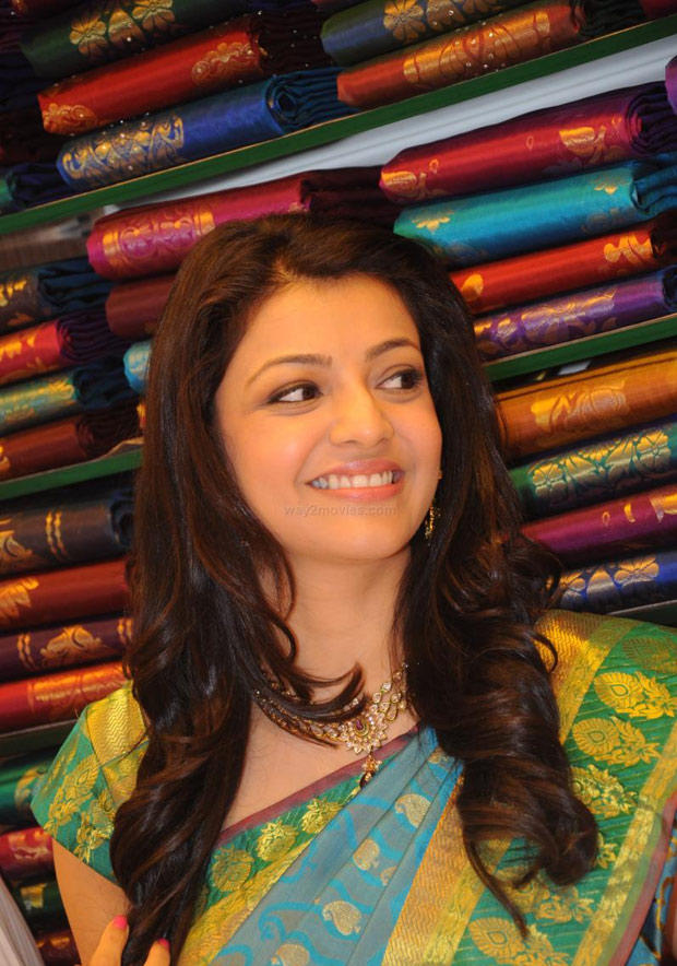 Kajal Aggarwal Flashes Smile At South India Shopping Mall Launch