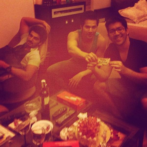 Varun,Arjun And Rohit Celebrate Rohit Dhawan Birthday
