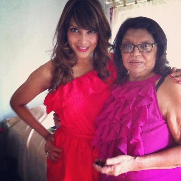 Bipasha Basu Strikes A Pose At Christmas Lunch