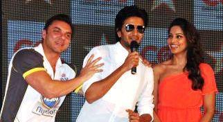 Sohail,Riteish And Bipasha Photo Clicked At Celebrity Cricket League Press Conference