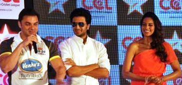 Sohail,Riteish And Bipasha Speak Out Photo At Celebrity Cricket League Press Conference