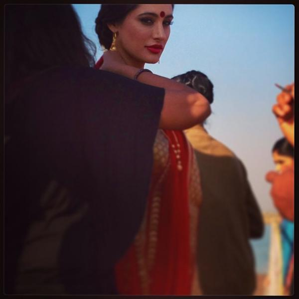 Nargis Fakhri Looked Awesome In Red Saree Photo
