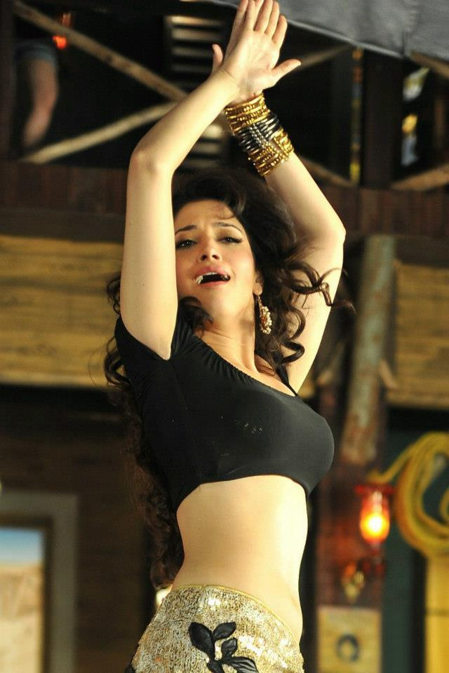 Tamanna Sizzling And Attractive Photo Still During A Dance Performance