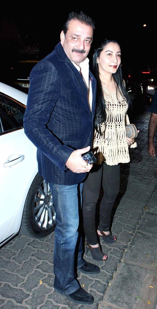 Sanjay With Wife Manyata During The Bunty Walia Wedding Reception Bash