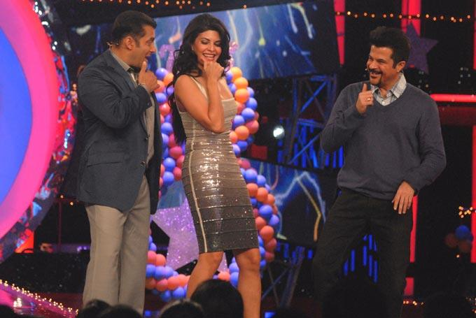 Salman,Anil And Jacqueline Awesome Snapp On The Sets Of Bigg Boss 6