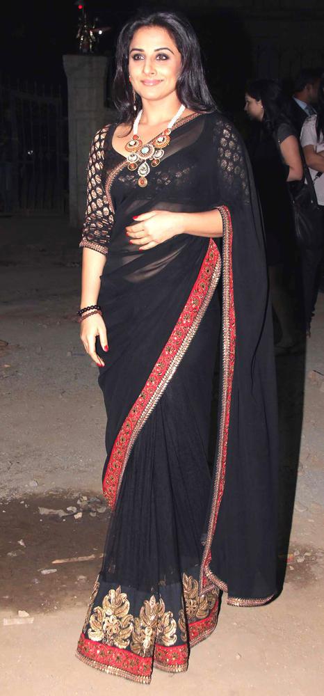 Vidya Balan Gorgeous Look In Black Saree Still