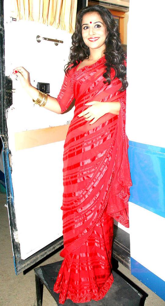 Vidya Balan In Red Saree Ravishing Still