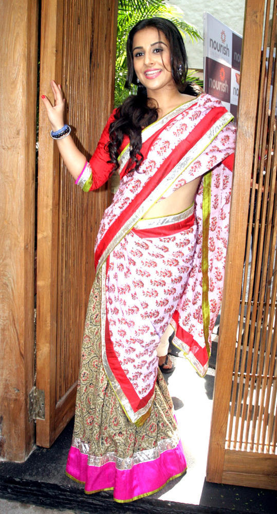 Vidya Balan In Saree Glamour Look Still
