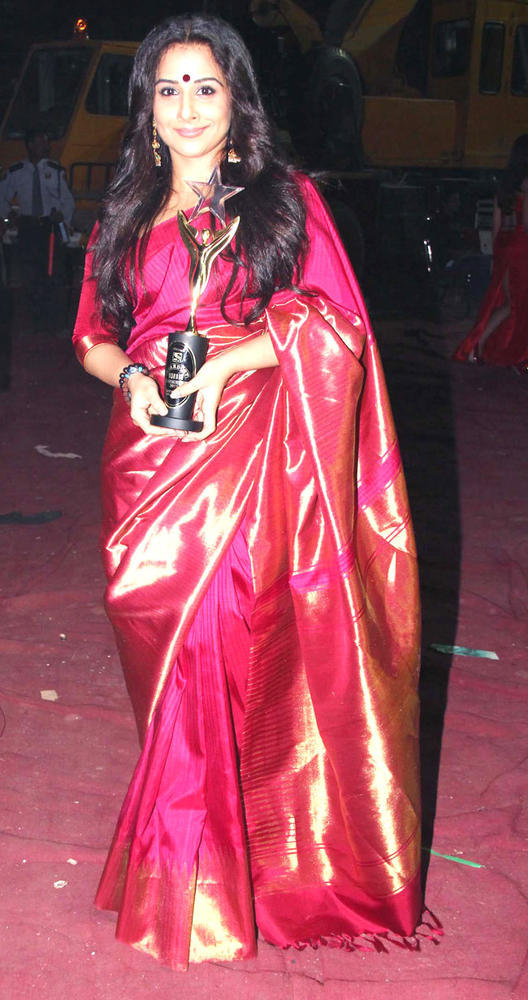 Vidya Balan In Traditional Saree Trendy Look Still