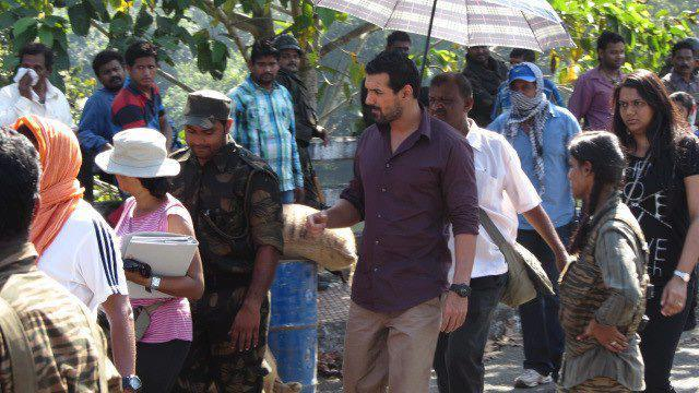 John Abraham Present On The Sets Of Madras Cafe Movie