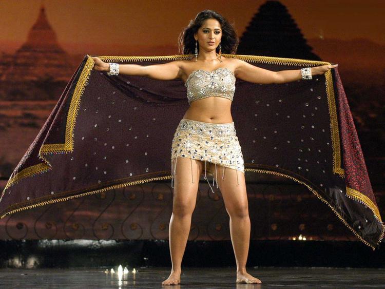Anushka Shetty Mini Dress Sexy Pic