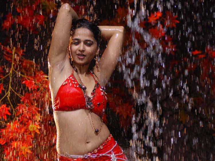 Anushka Shetty Wet Swim spicy Pose Pic