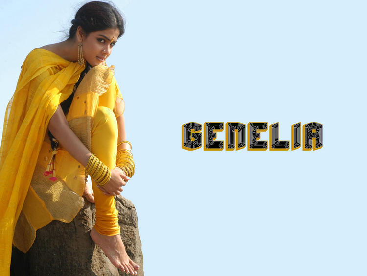 Simple Beauty Genelia D'souza Wallpaper