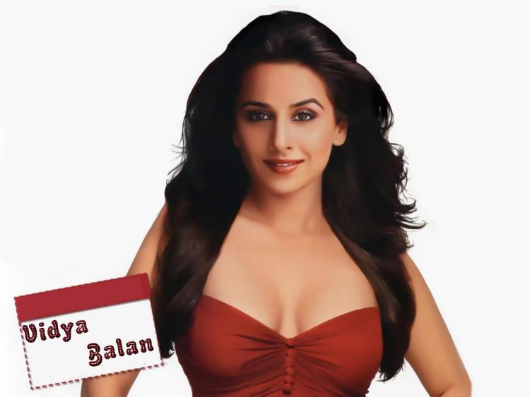 Vidya Balan Open Boob Show Wallpaper