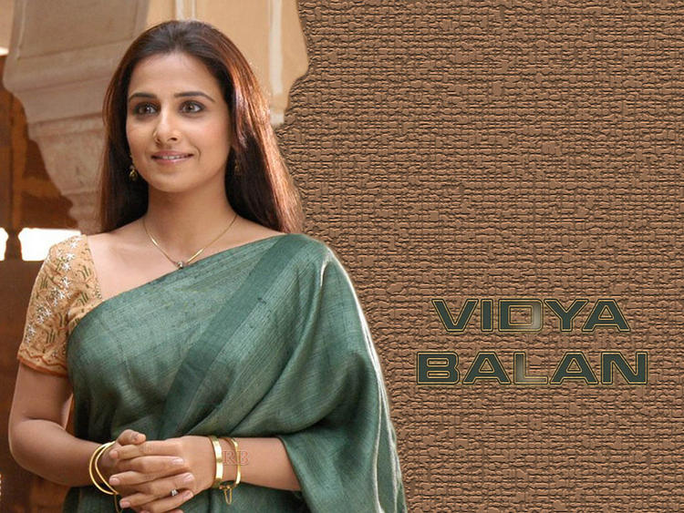 Vidya Balan In Saree Sizzling Look Wallpaper