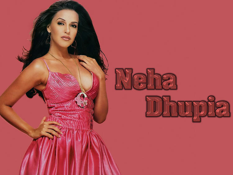 Neha Dhupia Sexy Cleavages Show Wallpaper