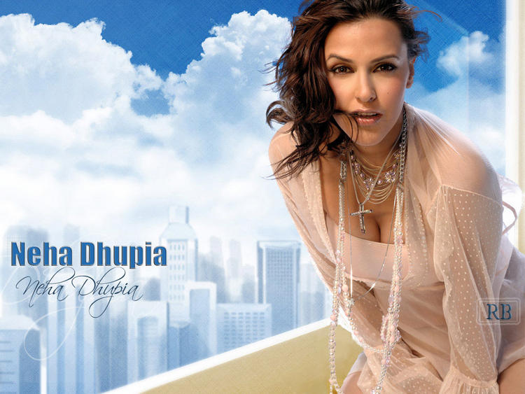 Neha Dhupia Sexy Cleavages Wallpaper