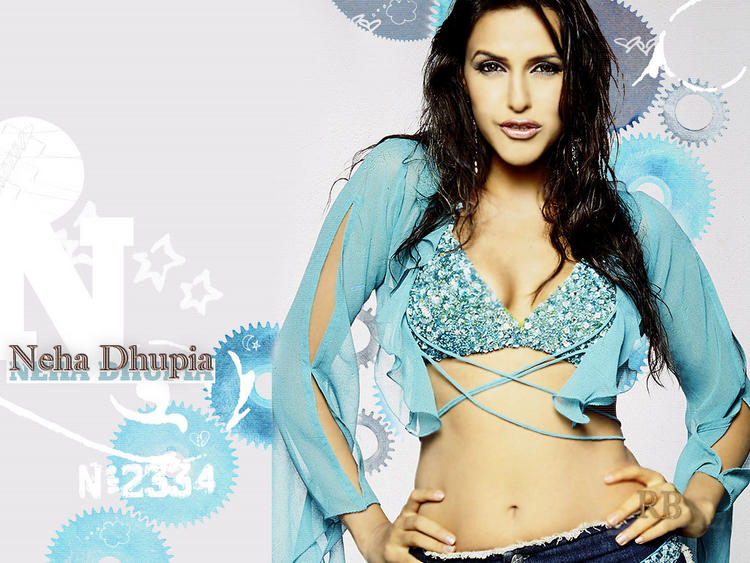 Neha Dhupia Sexy Navel Show Spicy Wallpaper