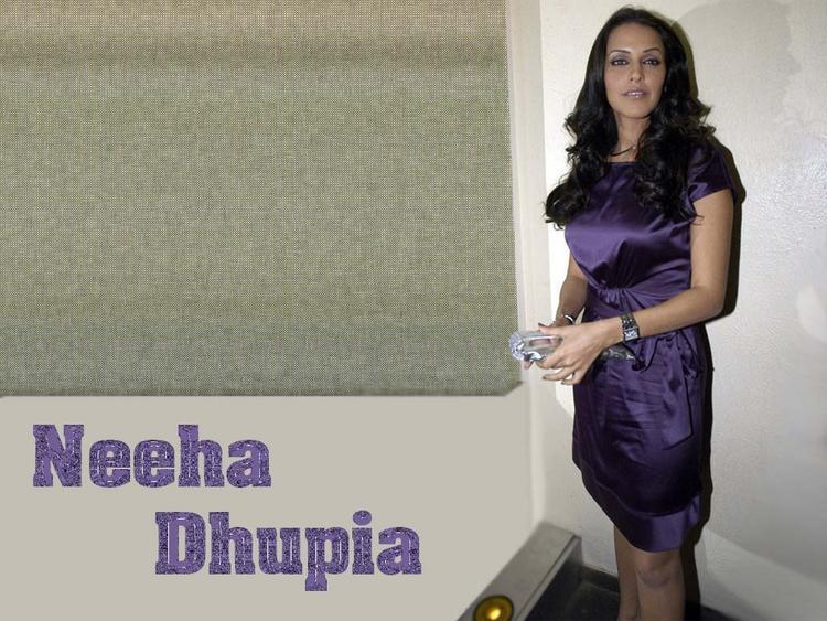 Neha Dhupia Short Dress Wallpaper