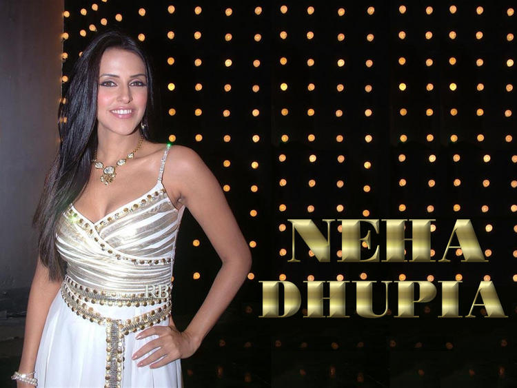 Neha Dhupia White Dress Glamour Wallpaper