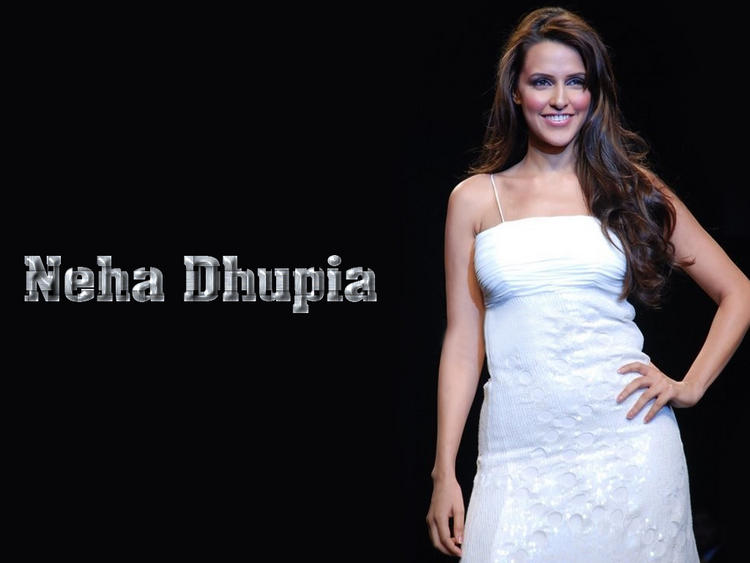 Neha Dhupia White Dress Gorgeous Wallpaper