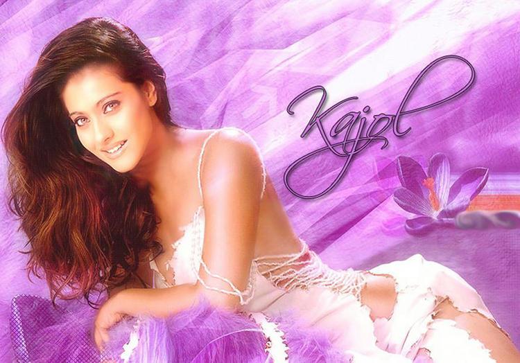 Kajol Devgan Sexiest Back Bare Dress Wallpaper