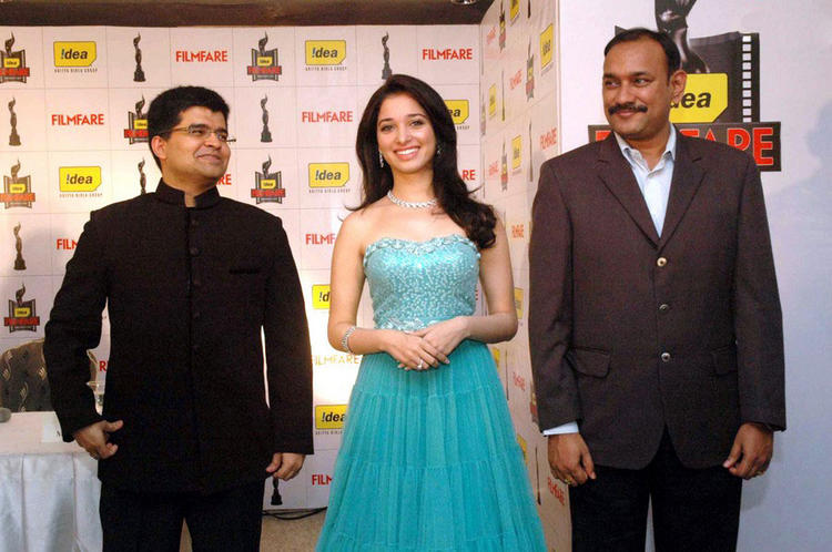 Tamanna at 57th Filmfare Awards Announcement
