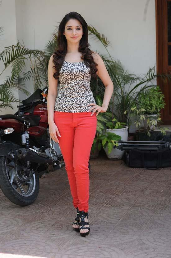 Tamanna Latest Photo Shoot With Red Color Pant
