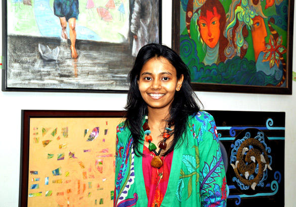 Nisha Jamvwal at Poonam Salecha Painting Exhibition