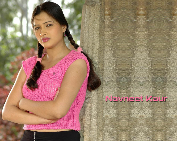 Navneet Kaur Cute Hair Style Wallpaper With Pink Tops