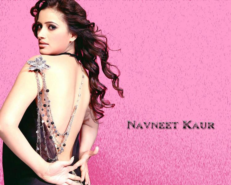 Navneet Kaur Sexy Back Bare Dress Wallpaper