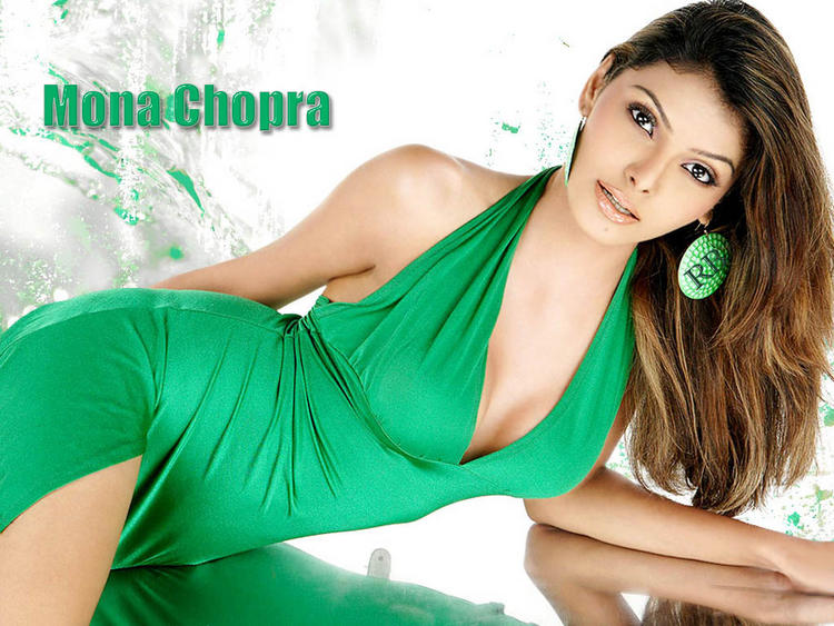 Mona Chopra Green Dress Hot Wallpaper
