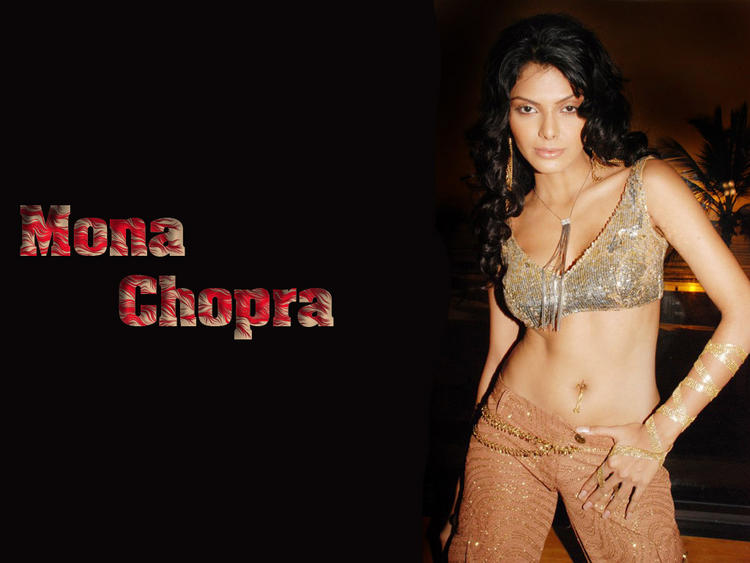 Mona Chopra Spicy Navel Show Hot Wallpaper