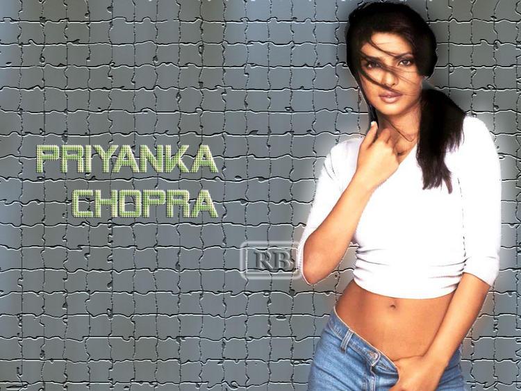 Priyanka Chopra Hot Navel Pose Wallpaper