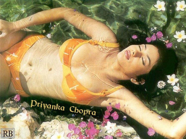 Priyanka Chopra Latest Shocking Bikini Wallpaper