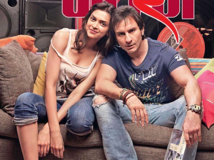 Deepika Padukone Cute Sexy Pic With Saif Ali Khan