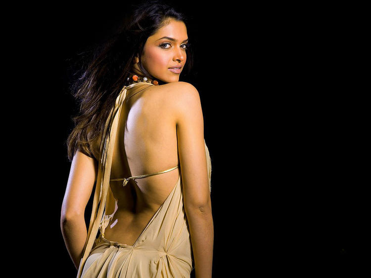 Deepika Padukone Sexy Back Exposing Photo Shoot