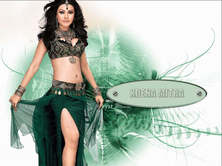 Koena Mitra Hot Spicy Navel Show Wallpaper