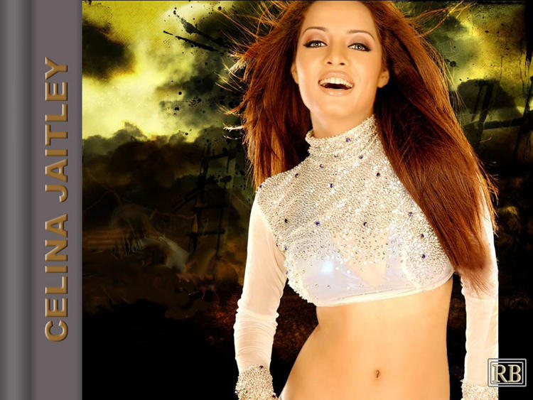 Celina Jaitley With Open Smile Sexy Pic