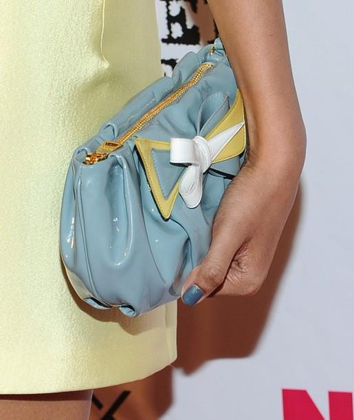 Freida Pinto Handbag Still at Nylon Magazine Party
