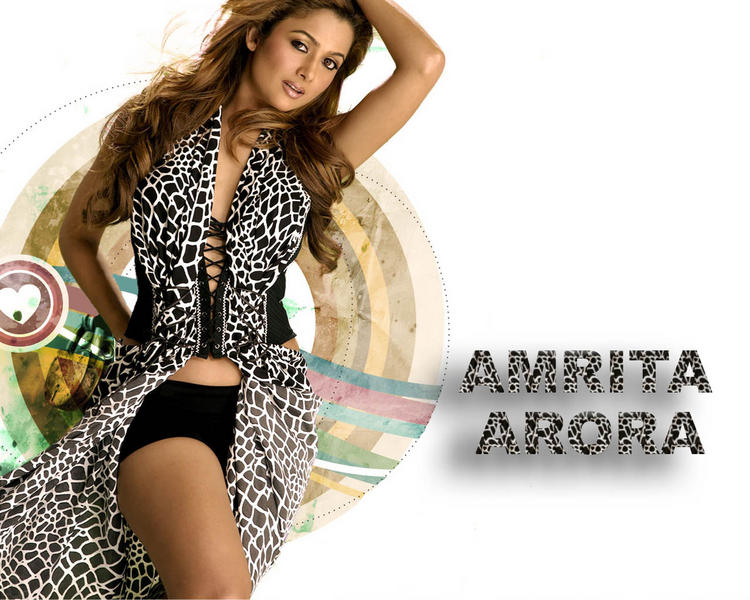 Amrita Arora Hot Dressing Wallpaper