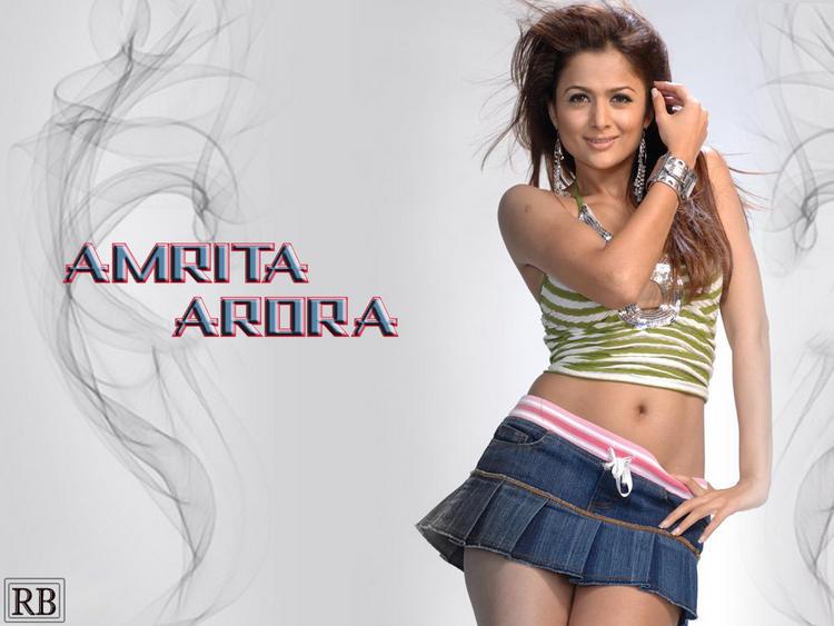 Amrita Arora Mini Skirt Sexiest Wallpaper