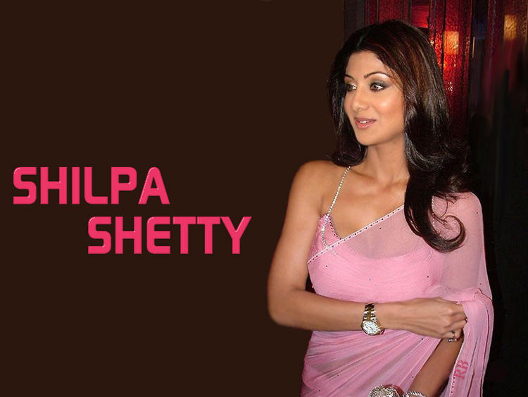 Shilpa Shetty Transparent Saree Wallpaper