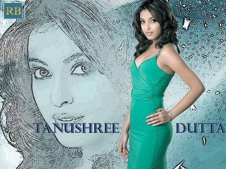 Tanushree Dutta Green Tight Dress Wallpaper