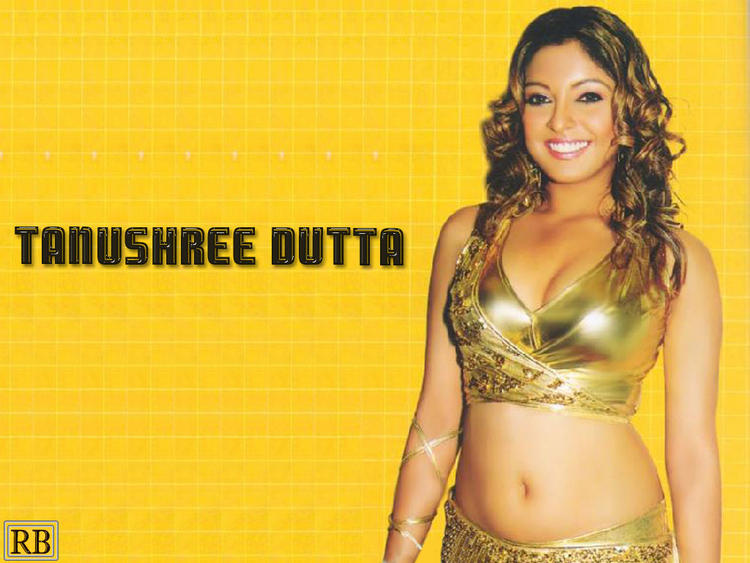 Tanushree Dutta Navel Show Gorgeous Smile Wallpaper