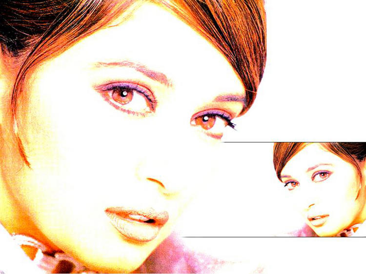 Madhuri Dixit Red Eyes Look Wallpaper
